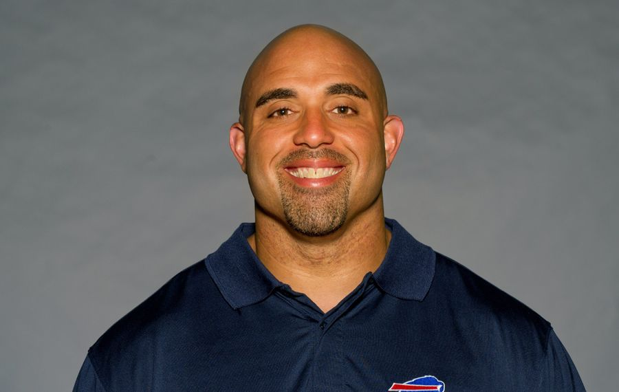 The Buffalo Bills rehired Bobby Johnson, shown here in 2011, as the team's offensive line coordinator. (Photo by NFL via Getty Images)