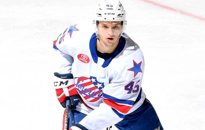 Brendan Guhle is taking part in the AHL All-Star Classic (Micheline Veluvolu/Rochester Americans)