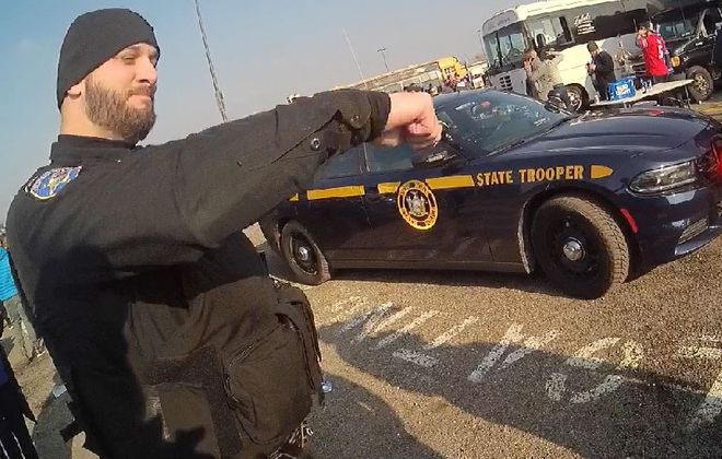 New body camera video obtained by The Buffalo News shows Deputy Adam Day talking with an undercover deputy (not pictured) about how Achtyl might swing his arms when moving in to make an arrest.