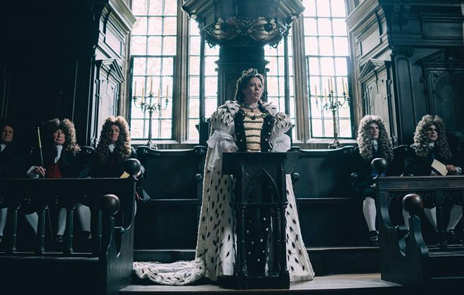 """""""The Favourite"""" is tied with """"Roma"""" for the most Oscar nominations, with 10 each. (Fox Searchlight Pictures/TNS)"""