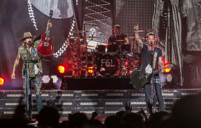 Florida Georgia Line performs at Darien Lake in 2017. The duo is back for more in the Country Megaticket for 2019. (Don Nieman/Special to The News)