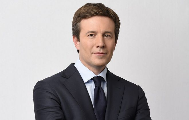 "Tonawanda native Jeff Glor gave his final broadcast as anchor of ""The CBS Evening News"" Friday night. He is being replaced by Norah O'Donnell. (Timothy Kuratek/CBS)"