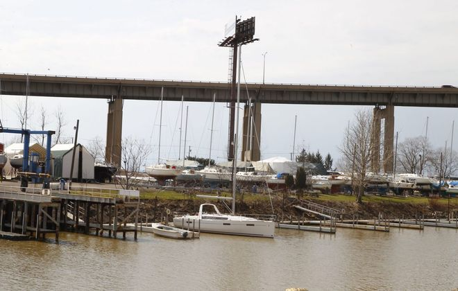 Boats on land and at dock at First Buffalo River Marina in Buffalo. (Buffalo News file photo)