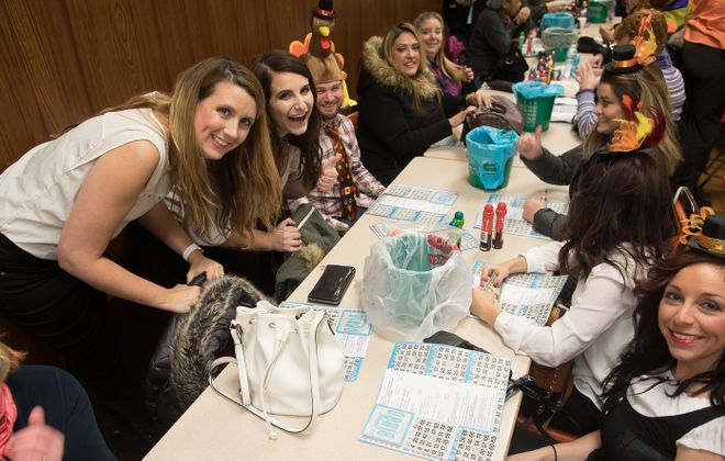 The first Buffalo Gay Bingo of 2019 will have a pajama theme. Pictured is the scene at a previous Naughty Pilgrim Gay Bingo. (Chuck Alaimo/Special to The News)