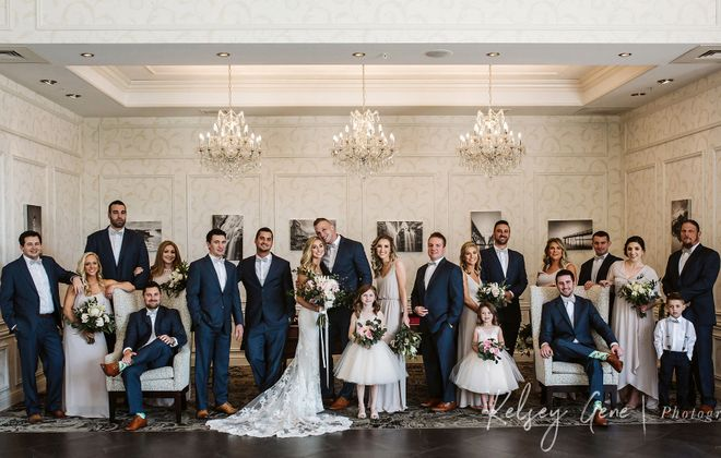 Only couples who choose Salvatore's for their wedding can take photos in their elegant surroundings. (Kelsey Gene Photography)