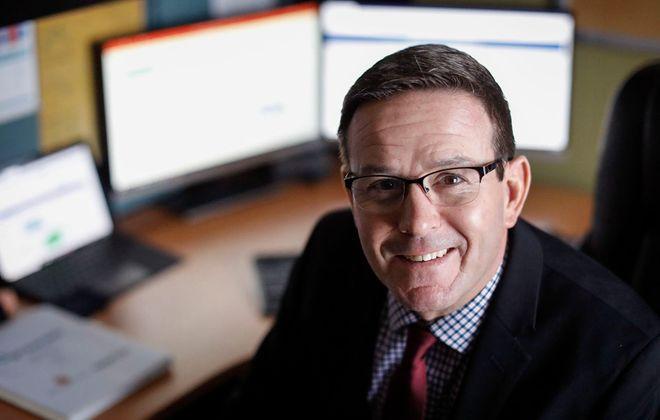 Gregg Gellman, COO of StimMed. (Derek Gee/Buffalo News)