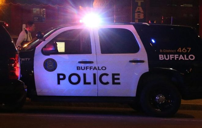 Two Buffalo police officers hospitalized after crash