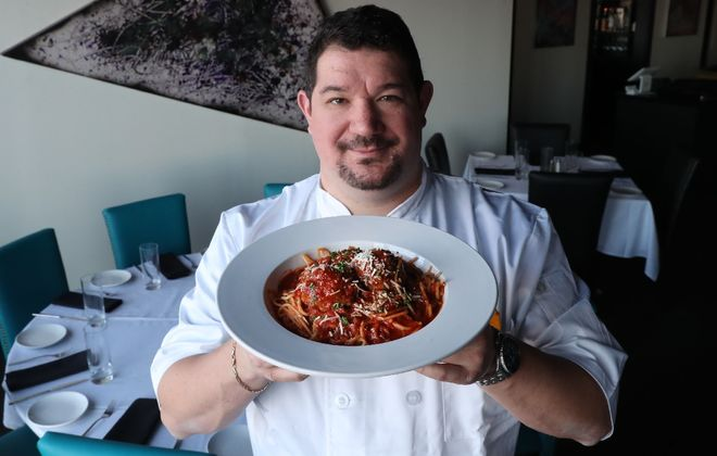 Richard Semonian, chef-owner at Novel in Amherst, made Sunday family pasta night. (Sharon Cantillon/News file photo)