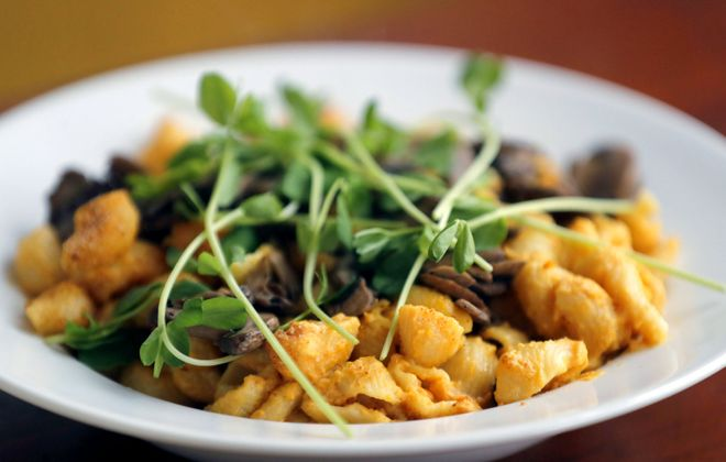 At Root & Bloom, vegans can an American classic, enjoy mac and cheese. (Mark Mulville/Buffalo News file photo)