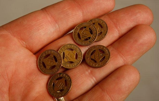 The Niagara Frontier Transportation Authority said Tuesday it will no longer accept tokens beginning March 1. (James P. McCoy/News file photo)