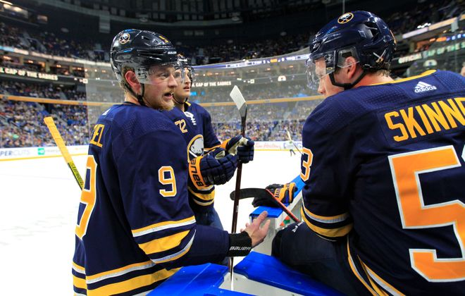 Jack Eichel and Jeff Skinner are together again (Harry Scull Jr./News file photo).