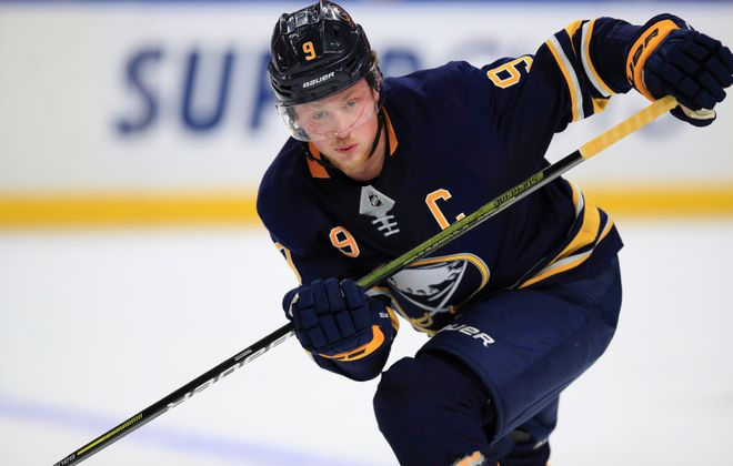 Jack Eichel has 22 goals through 60 games and extended his point streak to six games. (Harry Scull Jr./Buffalo News)