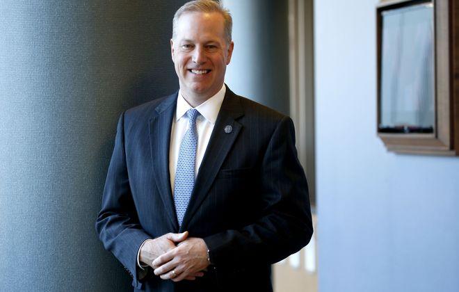 Mark Sullivan, the CEO of Catholic Health System, says a new electronic health records system will be transformational. (Robert Kirkham/Buffalo News)