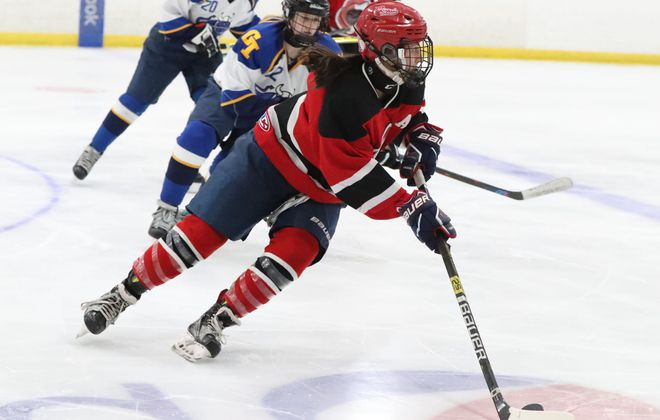 Lancaster / Iroquois / Depew's Federation girls hockey final against Frontier/Lake Shore/Orchard Park has been rescheduled to a time still to be determined due to Sunday's windy weather forecast. (James P. McCoy/News file photo)
