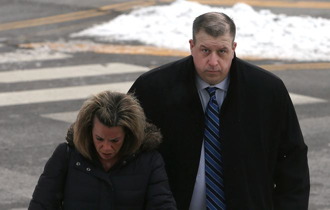 Buffalo Police Officer Corey Krug is still waiting for a federal jury to decide his fate in a brutality case. (John Hickey/Buffalo News)