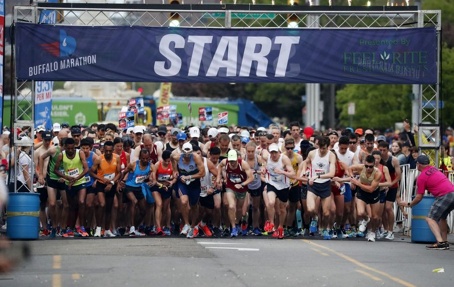 This year's Buffalo Marathon will take place on May 26. (Mark Mulville/News file photo)
