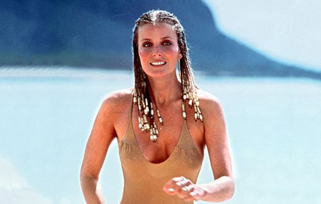 "Bo Derek turned heads in her first film, the comedy ""10."""