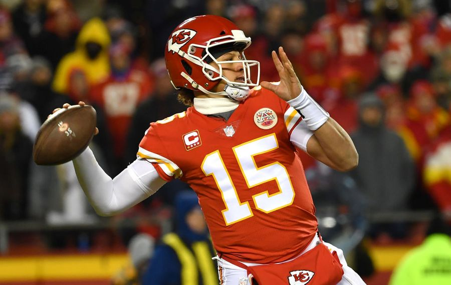 Bills could be seeing quarterback Patrick Mahomes and the Chiefs in the playoffs. (Getty Images file photo)