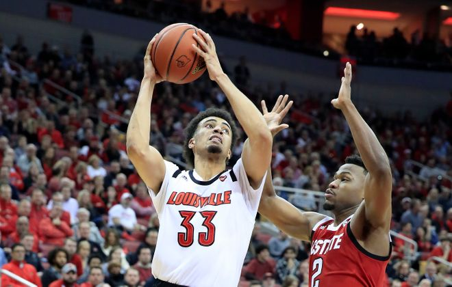 Jordan Nwora is the leading scorer and rebounder for No. 18 Louisville. (Getty Images)