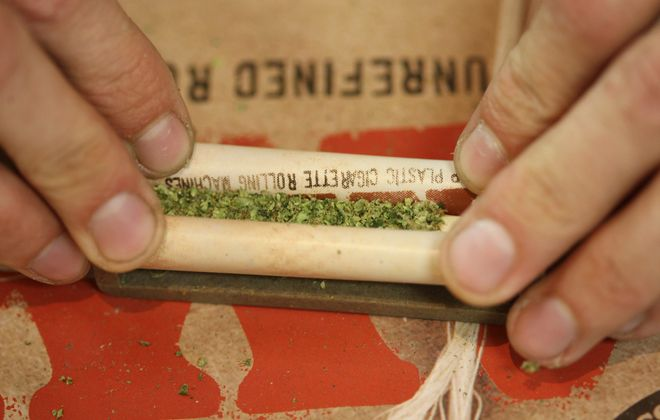 A bill in the state Senate would further decriminalize marijuana possession in New York State. (David McNew/Getty Images)