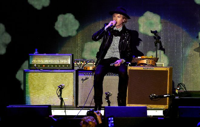 Beck returned for his third show in three years at Darien Lake. (Getty Images)