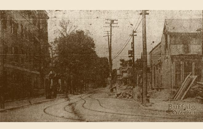 Elmwood Avenue looking north from Allen Street in 1910.