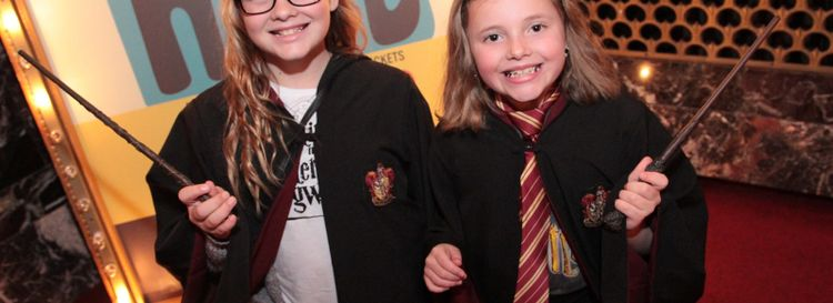 """Young Harry Potter fans were all decked out at the first showing of """"Harry Potter and the Sorcer's Stone"""" in concert with the Buffalo Philharmonic Orchestra at Shea's Buffalo Theatre. (Sarah K. McIlhatten/Special to the News )"""