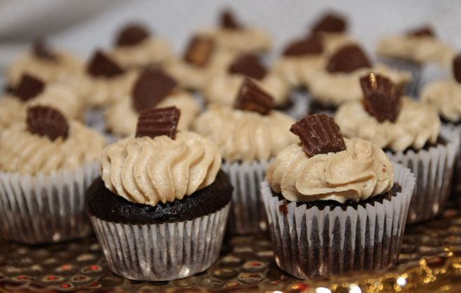 Chocolate cupcakes from the 2018 Sweet Charity event to benefit the Food Bank of WNY. The event returns on Thursday. (Sarah K. McIlhatten/Special to The News)