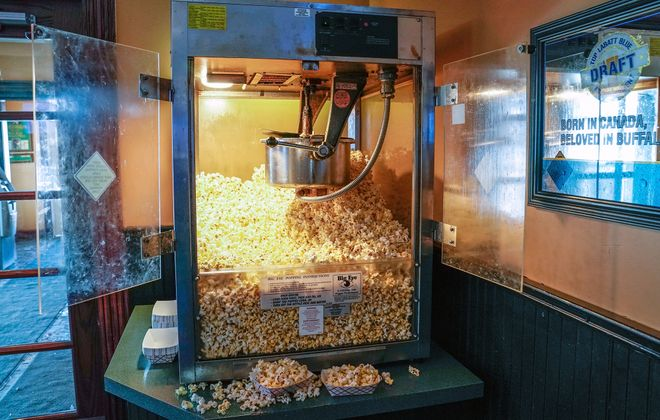 Patrons of J.P. Fitzgerald's in Hamburg can nosh on all the popcorn they like, gratis. (Dave Jarosz)