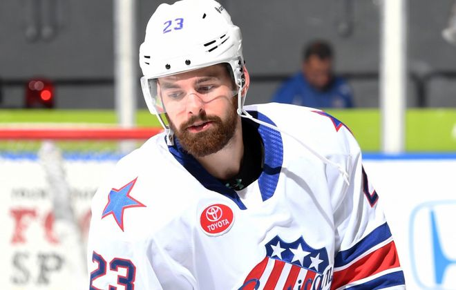 Jack Dougherty, a defensive-minded defenseman, has a plus-minus ratio of plus-19. (Photo courtesy of the Rochester Americans)