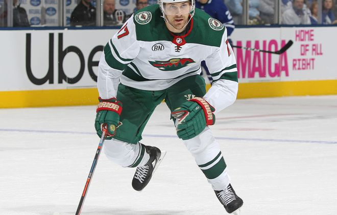 Former Sabres winger Marcus Foligno has four goals and seven assists this season and is one of six players to appear in all 52 games for the Wild (Getty Images)