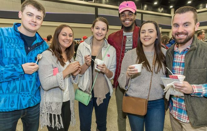 Smiling faces at the Buffalo Soup-Fest from 2018 at the Convention Center. (Don Nieman/Special to The News)