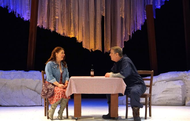 """Almost, Maine"" is a delightful array of romantic vignettes presented by Road Less Traveled Productions. (Photo by Gina Gandolfo)"