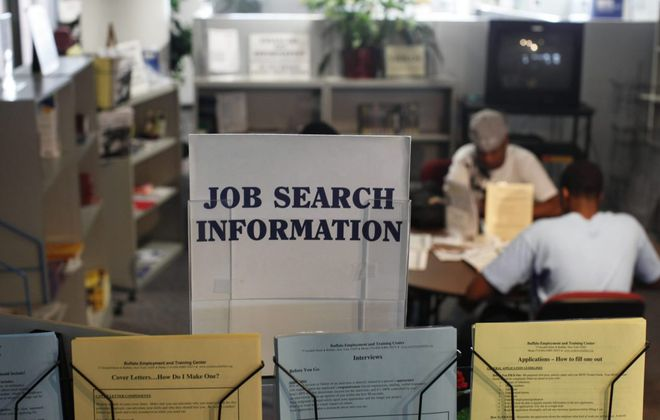 Resources for job searchers are usually available at the Buffalo Employment and Training Center, but the facility is closed due to the federal government shutdown. {Derek Gee/News file photo}