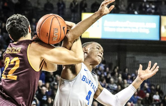Davonta Jordan scored 12 points for the University at Buffalo basketball team Tuesday at Akron. (James P. McCoy/News file photo)