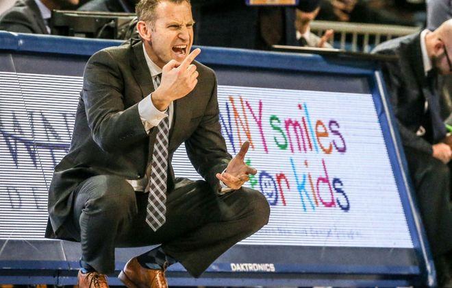 UB men's basketball coach Nate Oats (James P. McCoy/News file photo)