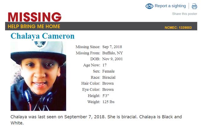 Authorities seek Buffalo teenage girl missing since last September