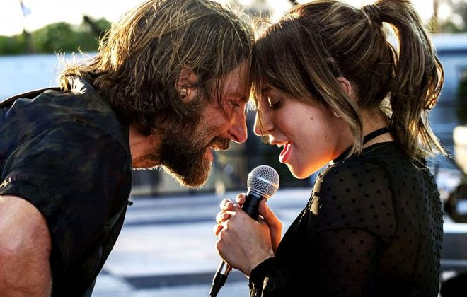 "A free showing of ""A Star is Born""takes place on Woodlawn Beach."