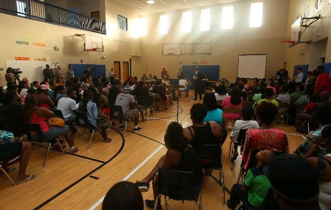 An emergency meeting of parents, school and state officials in 2013 was not enough to prevent Pinnacle Charter School from being closed. Now Buffalo Public Schools officials want to know what happened to money they think Pinnacle was supposed to have turned over to the district. (John Hickey/News file photo)
