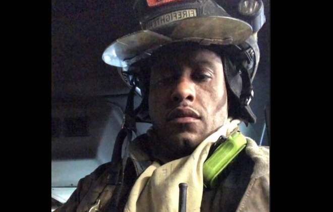 Eric Whitehead suffered severe burns to his hands during a fire in January. (Photo courtesy of the Buffalo Fire Department)