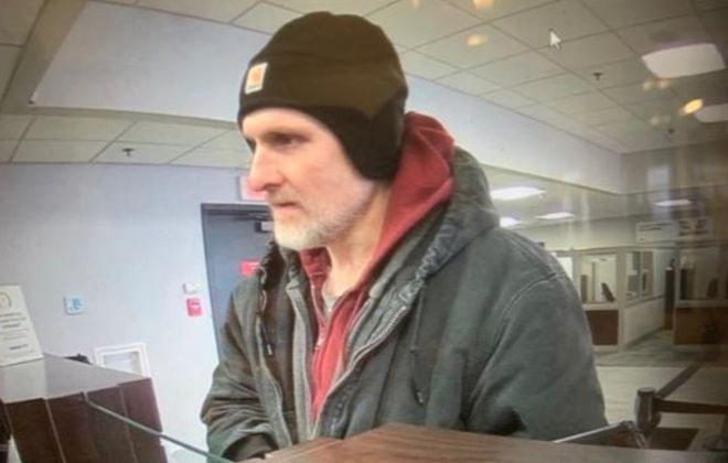 Police are looking for the suspect in a Town of Niagara bank robbery. (Photo provided by State Police)