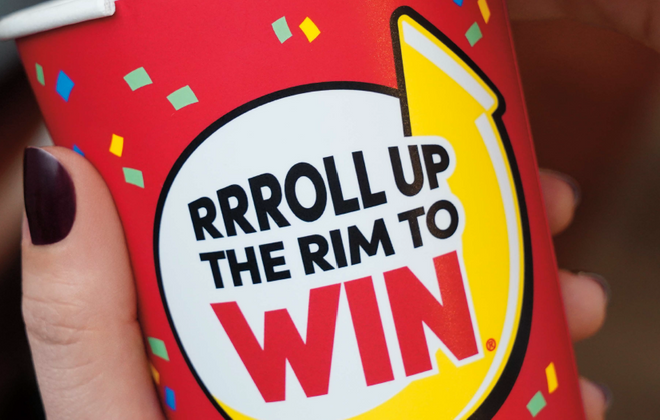 Roll Up the Rim cups are usually in stores by now. (Photo courtesy of Tim Hortons)