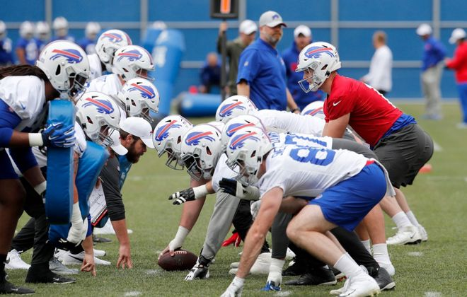 All five starters on the Bills' offensive line will be back in 2020, just one way continuity may help the team in an unusual offseason. (Mark Mulville/News file photo)