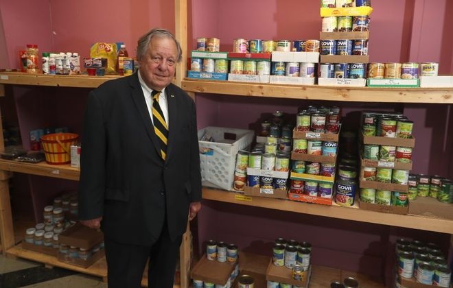 Paul Rudnicki never saw combat but spent one year in Vietnam trying court martial cases. He is the chairman of the committee for the Vietnam Veterans Association Food Pantry, 47 Main St. in the City of Tonawanda. (John Hickey/Buffalo News)