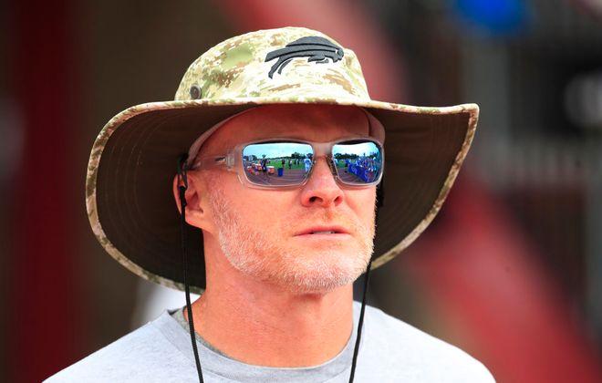 Buffalo Bills head coach Sean McDermott at St. John Fisher last summer. (Harry Scull Jr./Buffalo News)