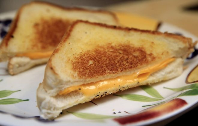 The Cheesy Chick Cafe in Williamsville sells classic grilled cheese for $5. (Harry Scull Jr./Buffalo News)