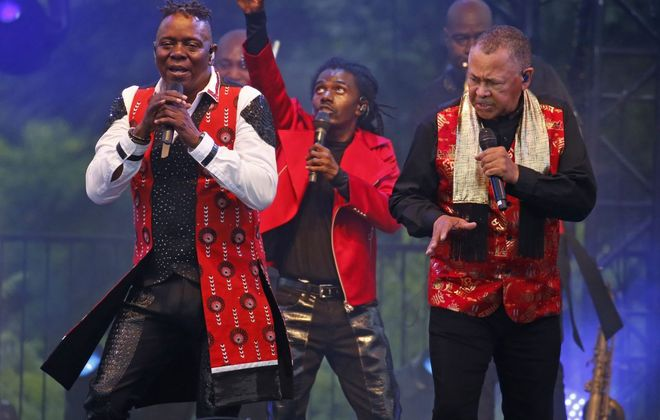 Earth Wind & Fire, seen here in a sold-out 2019 concert at Artpark, was scheduled to return in 2020. That concert has been moved to 2021.  (Robert Kirkham/News file photo)