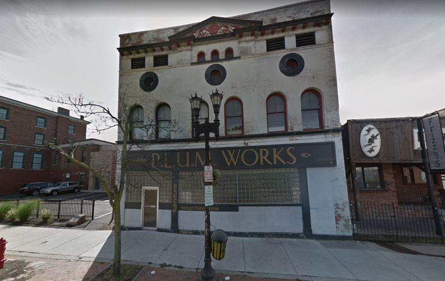 The P.L.U.M. Works building on Allen Street has been acquired by Ellicott Development Co. (Google)