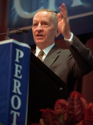 Ross Perot at the University at Buffalo's Center for the Arts in October 1996. (Sharon Cantillon/News file photo)
