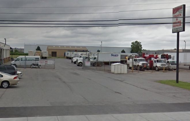 The warehouse at 1989 Harlem Road in Cheektowaga was sold from one trucking service firm to another. (Google)